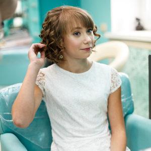 Укладка волос со стайлингом