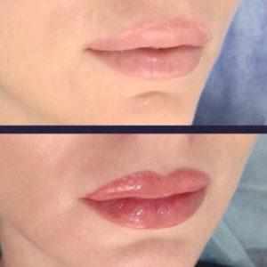Перманентный макияж губ акварельная техника